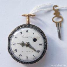 Relojes de bolsillo: RELOJ VOUCHEZ CATALINO FUSEE ORO 18KLTS Y ESMALTE FUNCIONANDO CIRCA 1790. Lote 237479295