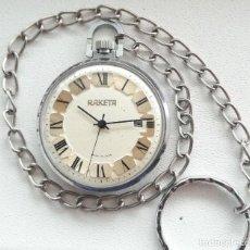 Relojes de bolsillo: PRECIOSO Y ELEGANTE RELOJ DE BOLSILLO RUSO DE LOS AÑOS 60/70 MARCA RAKETA. Lote 238448100
