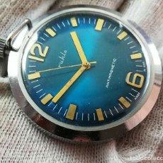 Relojes de bolsillo: CURIOSO RELOJ DE BOLSILLO MARCA RUHLA FABRICADO EN LA REPUBLICA DEMOCRATICA ALEMANA AÑOS 60. Lote 238576205