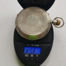 Relojes de bolsillo: ENORME RELOJ DE PLATA SABONETA ANTIGUO MAS DE 100 GRAMOS 63MM DIAMETRO FUNCIONANDO. Lote 239433415