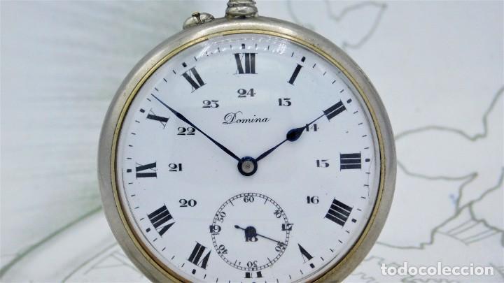 Relojes de bolsillo: DOMINA-MUY BONITO RELOJ DE BOLSILLO-CON LAS 24 HORAS-CIRCA 1916-FUNCIONANDO - Foto 8 - 239905455