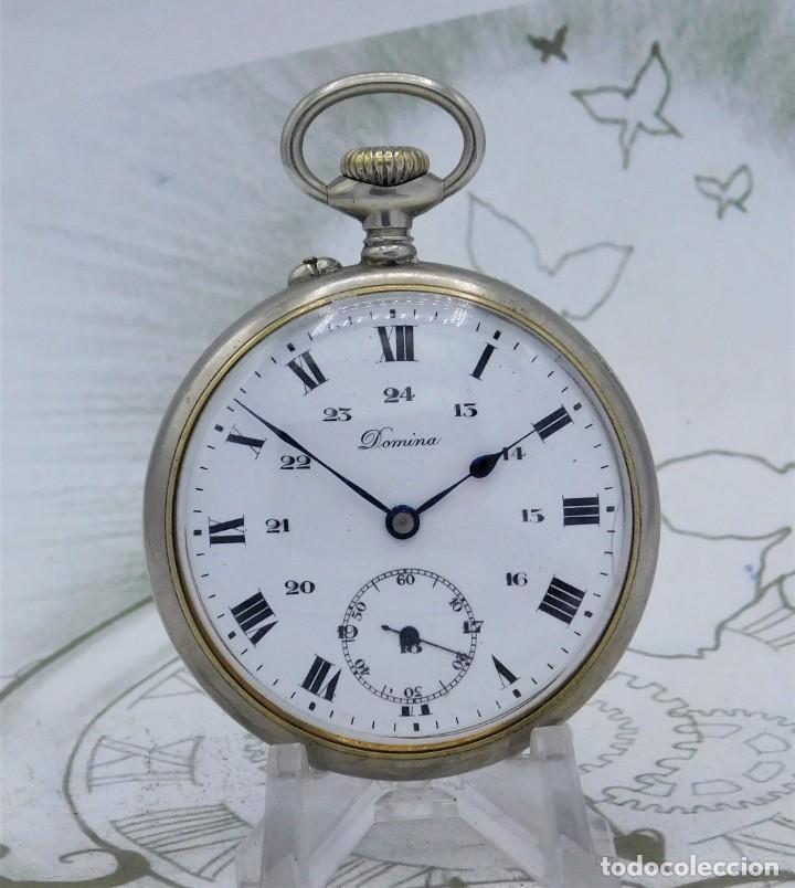 DOMINA-MUY BONITO RELOJ DE BOLSILLO-CON LAS 24 HORAS-CIRCA 1916-FUNCIONANDO (Relojes - Bolsillo Carga Manual)