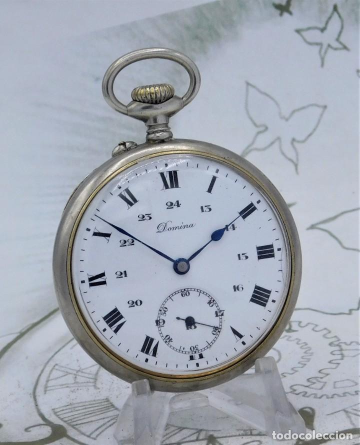 Relojes de bolsillo: DOMINA-MUY BONITO RELOJ DE BOLSILLO-CON LAS 24 HORAS-CIRCA 1916-FUNCIONANDO - Foto 5 - 239905455