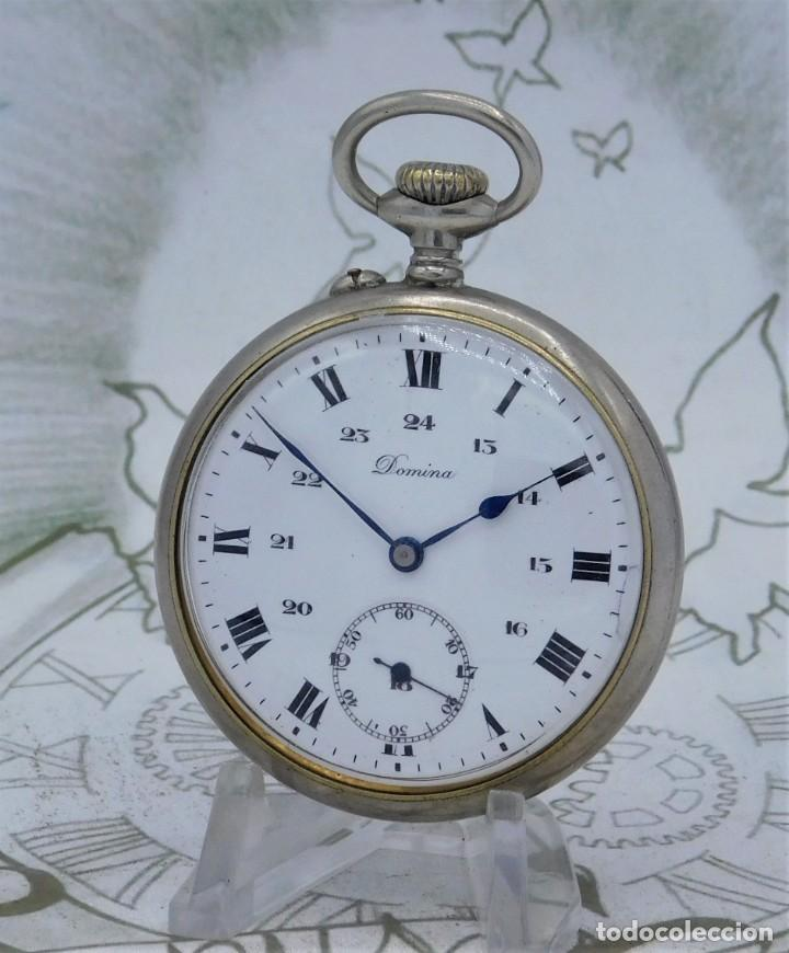 Relojes de bolsillo: DOMINA-MUY BONITO RELOJ DE BOLSILLO-CON LAS 24 HORAS-CIRCA 1916-FUNCIONANDO - Foto 14 - 239905455