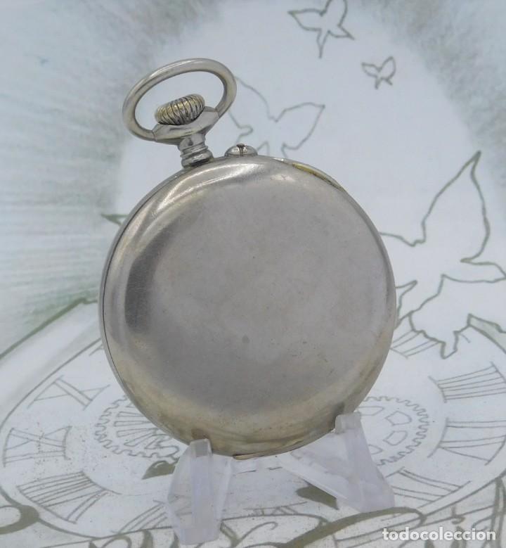 Relojes de bolsillo: DOMINA-MUY BONITO RELOJ DE BOLSILLO-CON LAS 24 HORAS-CIRCA 1916-FUNCIONANDO - Foto 2 - 239905455