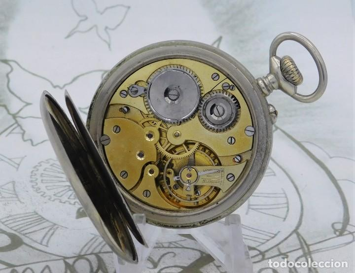 Relojes de bolsillo: DOMINA-MUY BONITO RELOJ DE BOLSILLO-CON LAS 24 HORAS-CIRCA 1916-FUNCIONANDO - Foto 4 - 239905455