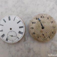 Relojes de bolsillo: 2 MECANISMOS DE RELOJ DE BOLSILLO. Lote 240236320