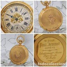 Relojes de bolsillo: PAUL JEANNOT GENEVE-DE ORO 18K-FANTÁSTICO RELOJ DE BOLSILLO-SABONETA-CIRCA 1885-FUNCIONANDO. Lote 240781310