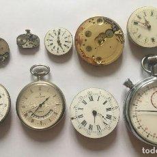 Relojes de bolsillo: 9 MAQUINARIAS Y RELOJES DE BOLSILLO ANTIGUOS-LOTE 259-7. Lote 241103360