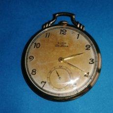 Relojes de bolsillo: RELOJ A CUERDA-FUNCIONANDO. ELGIN-USA.CHAPADO ORO. ENVIO CERTIFICADO INCLUIDO.. Lote 241473590