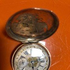 Relojes de bolsillo: MUY BONITO RELOJ RELOJ BOLSILLO BREGUET , ORO 14 KILATES. Lote 241797760