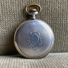 Relojes de bolsillo: ANTIGUO RELOJ BOLSILLO SABONETA EN PLATA AÑO 1880 -- LOTE 259. Lote 242030170
