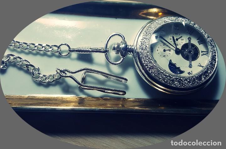 Relojes de bolsillo: RELOJ BOLSILLO NIGHT AND DAY. - Foto 3 - 243349615