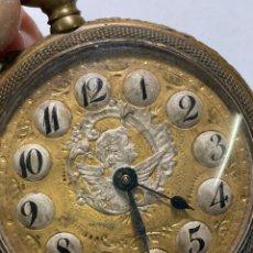 Relógios de bolso: RELOL PAUL HEMMELER DE BOLSILLO DE UÑERO ESFERA PLATA Y ORO ESPECIAL QUERUBÍN. Lote 243458440