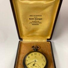 Relógios de bolso: RELOJ DE BOLSILLO OMEGA CAJA DE ACERO Y ORO COMO NUEVO EN SU CAJA 1900-1910. Lote 243645250