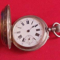 Relojes de bolsillo: RELOJ DE BOLSILLO BOANAN GENEVE REMONTOIRE CAJA DE PLATA .NO FUNCIONA .MIDE 55 MM DIAMETRO. Lote 244179420