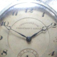 Relojes de bolsillo: ANTIGUO RELOJ DE BOLSILLO CORGEMON WATCH CHRONOMETRE CON CADENA.. Lote 244674385