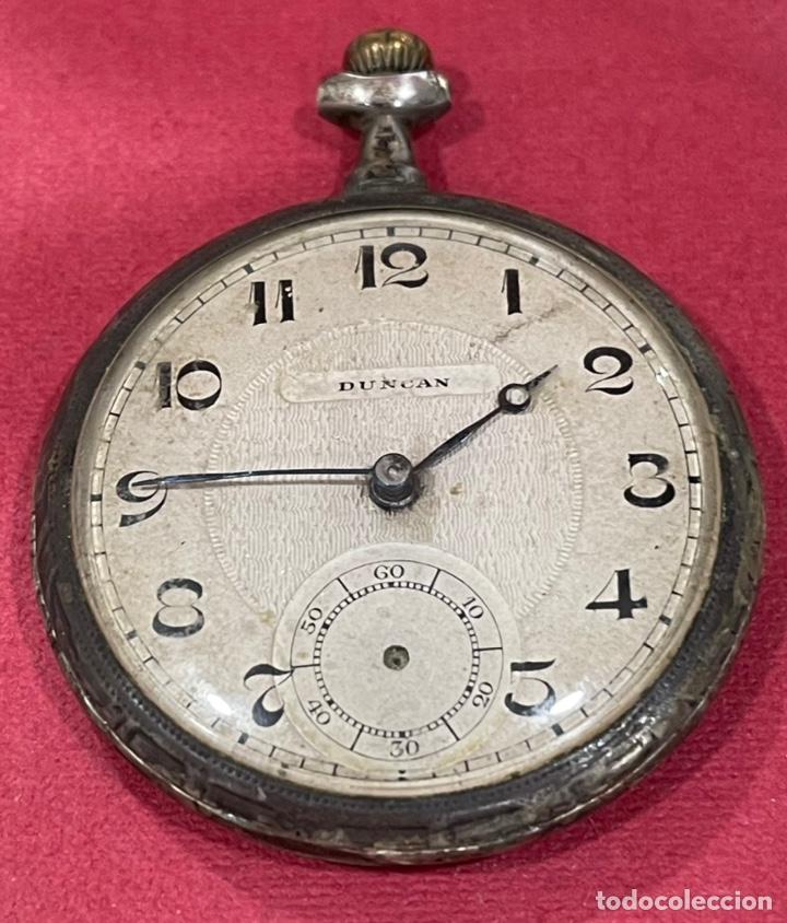 Relojes de bolsillo: Antiguo reloj de bolsillo de plata Modernista Duncan. - Foto 2 - 244686205