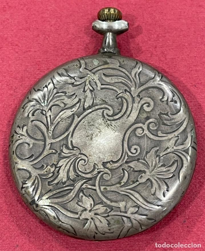 Relojes de bolsillo: Antiguo reloj de bolsillo de plata Modernista Duncan. - Foto 3 - 244686205
