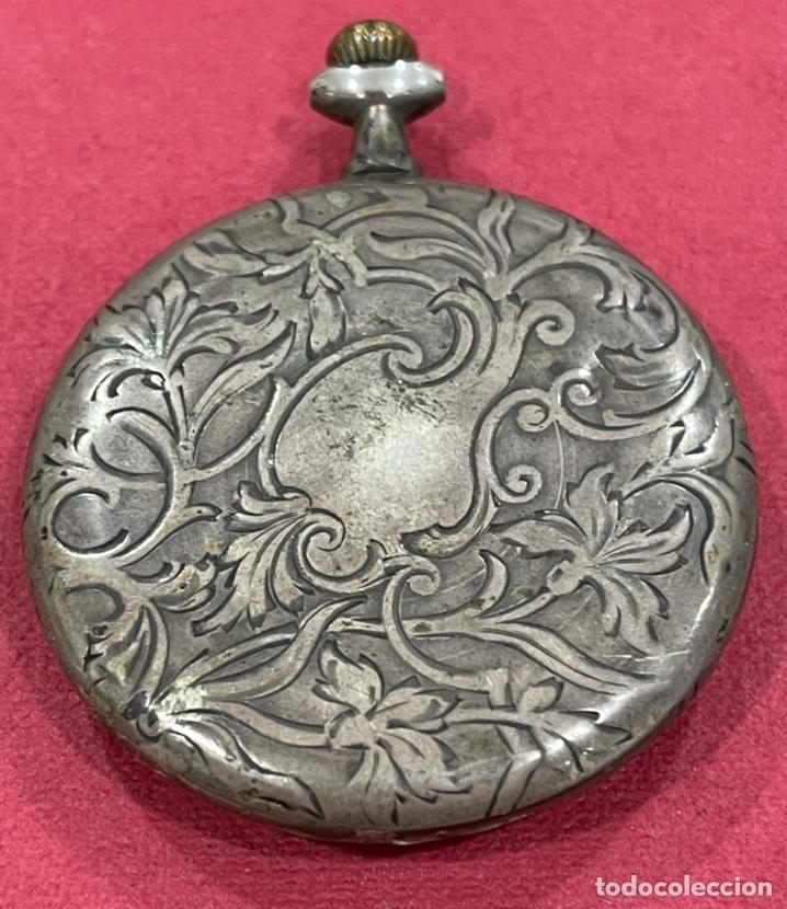 Relojes de bolsillo: Antiguo reloj de bolsillo de plata Modernista Duncan. - Foto 4 - 244686205