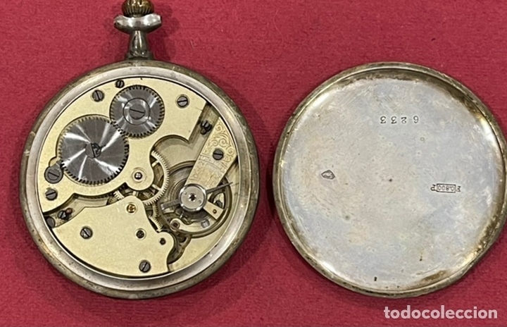 Relojes de bolsillo: Antiguo reloj de bolsillo de plata Modernista Duncan. - Foto 5 - 244686205