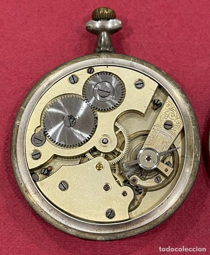 Relojes de bolsillo: Antiguo reloj de bolsillo de plata Modernista Duncan. - Foto 6 - 244686205