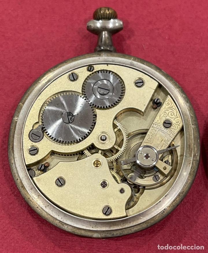 Relojes de bolsillo: Antiguo reloj de bolsillo de plata Modernista Duncan. - Foto 7 - 244686205