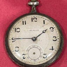 Relojes de bolsillo: ANTIGUO RELOJ DE BOLSILLO DE PLATA MODERNISTA DUNCAN.. Lote 244686205