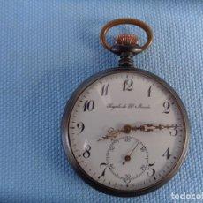 Relojes de bolsillo: ANTIGUO RELOJ PAVONADO REGALO DE EL MUNDO.. Lote 244754630