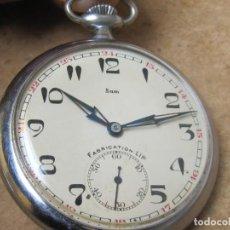 Relojes de bolsillo: ANTIGUO RELOJ DE CUERDA DE BOLSILLO FABRICADO POR LA MARCA Y CASA LIP. Lote 244761445