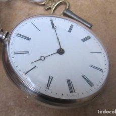 Relojes de bolsillo: ANTIGUO RELOJ DE CUERDA DE BOLSILLO DE PLATA DE LLAVE. Lote 244763720