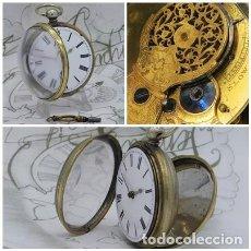 Relojes de bolsillo: INUSUAL RELOJ DE BOLSILLO CATALINO-DE PLATA-INGLÉS-3 TAPAS-CIRCA 1790-FUNCIONANDO. Lote 244765875