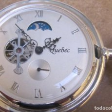 Relojes de bolsillo: RELOJ DE BOLSILLO DE CUERDA CON FASE LUNAR. Lote 244768590