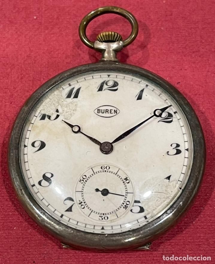 ANTIGUO RELOJ DE BOLSILLO DE PLATA, DE EPOCA MODERNISTA. PPS. DE S.XX. (Relojes - Bolsillo Carga Manual)
