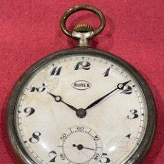 Relojes de bolsillo: ANTIGUO RELOJ DE BOLSILLO DE PLATA, DE EPOCA MODERNISTA. PPS. DE S.XX.. Lote 244840990