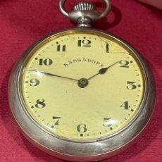 Relojes de bolsillo: ANTIGUO RELOJ DE BOLSILLO, KASSADOFF. FUNCIONANDO. MUY BUENA MAQUINARIA. Lote 245014955
