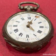 Relojes de bolsillo: ANTIGUO RELOJ DE BOLSILLO, DE PLATA. S.XIX.,. Lote 245015935