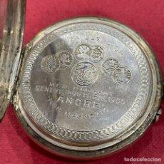 Relojes de bolsillo: ANTIGUO RELOJ DE BOLSILLO, DE PLATA MOERIS.. Lote 245017090