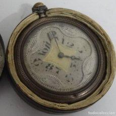 Relojes de bolsillo: RELOJ DE BOLSILLO MUY ANTIGUO DE PLATA. Lote 245256535