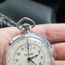 Relojes de bolsillo: RELOJ ANTIGUO DE BOLSILLO CON CRONÓGRAFO Y TACHYMETRE CASI A ESTRENAR FUNCIONA TODO ALTA COLECCIÓN. Lote 245293485