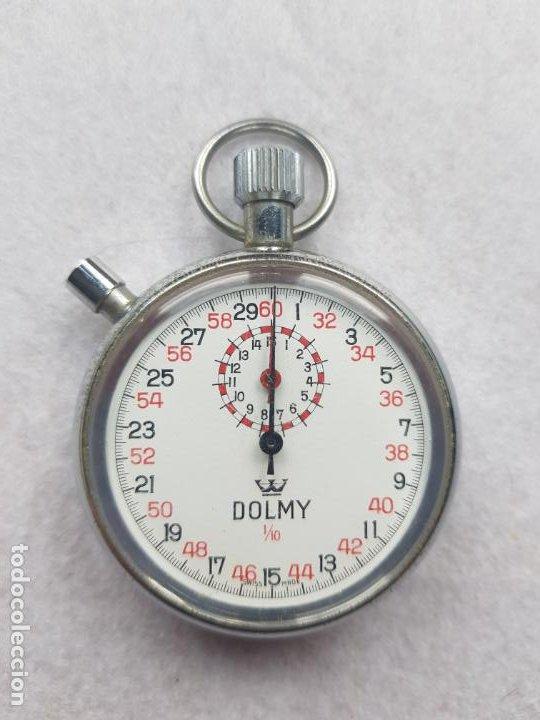 Relojes de bolsillo: DOLMY CRONOGRAFO MECANICO DE BOLSILLO FUNCIONANDO 51MM - Foto 2 - 245363865