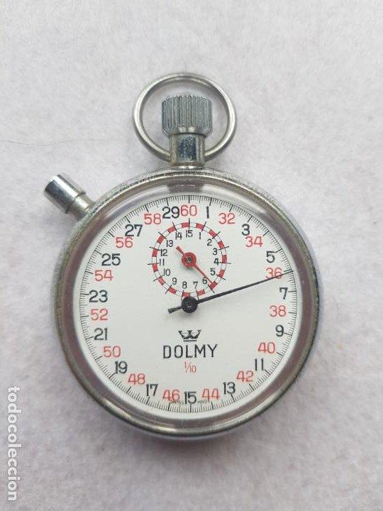 Relojes de bolsillo: DOLMY CRONOGRAFO MECANICO DE BOLSILLO FUNCIONANDO 51MM - Foto 4 - 245363865