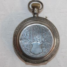 Relojes de bolsillo: RELOJ DE BOLSILLO DE FINALES DEL SIGLO XIX REALIZADO EN PLATA. Lote 245575860