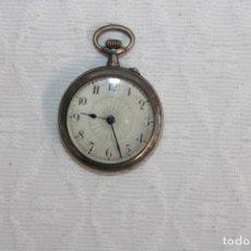 Relojes de bolsillo: RELOJ DE BOLSILLO DE FINALES DEL SIGLO XIX REALIZADO EN PLATA. Lote 245577105