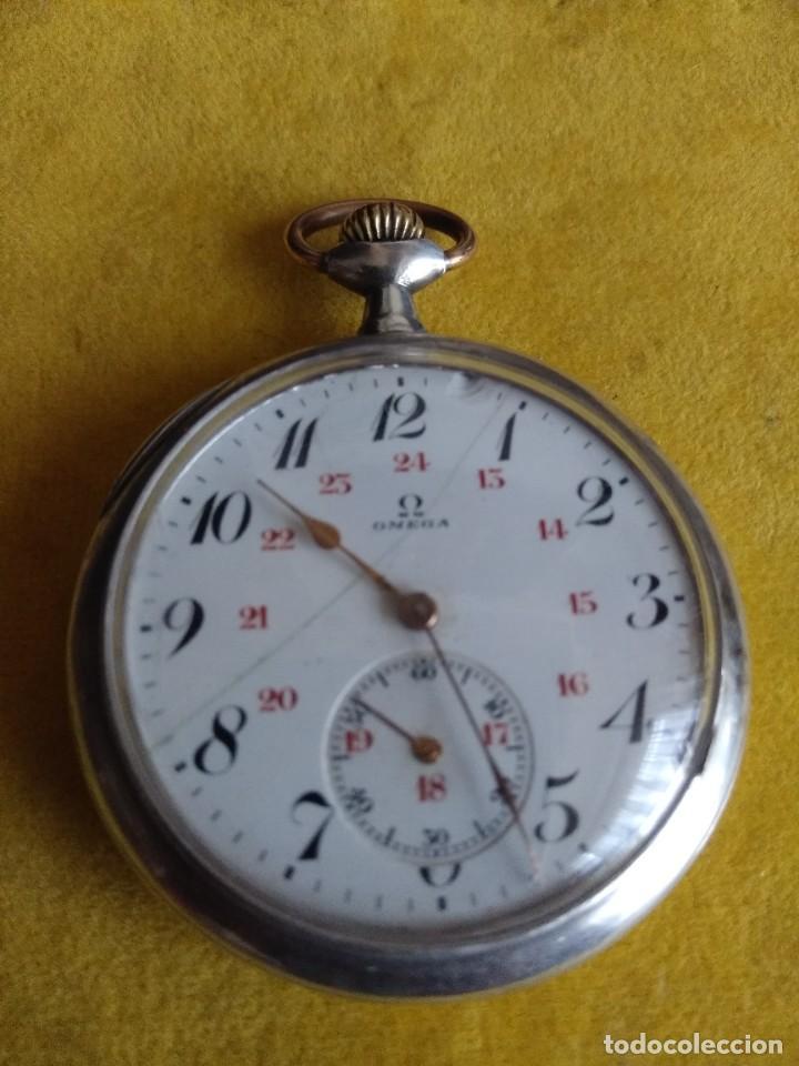 RELOJ DE BOLSILLO OMEGA DE PLATA, GRAND PRIX PARIS 1900 (Relojes - Bolsillo Carga Manual)