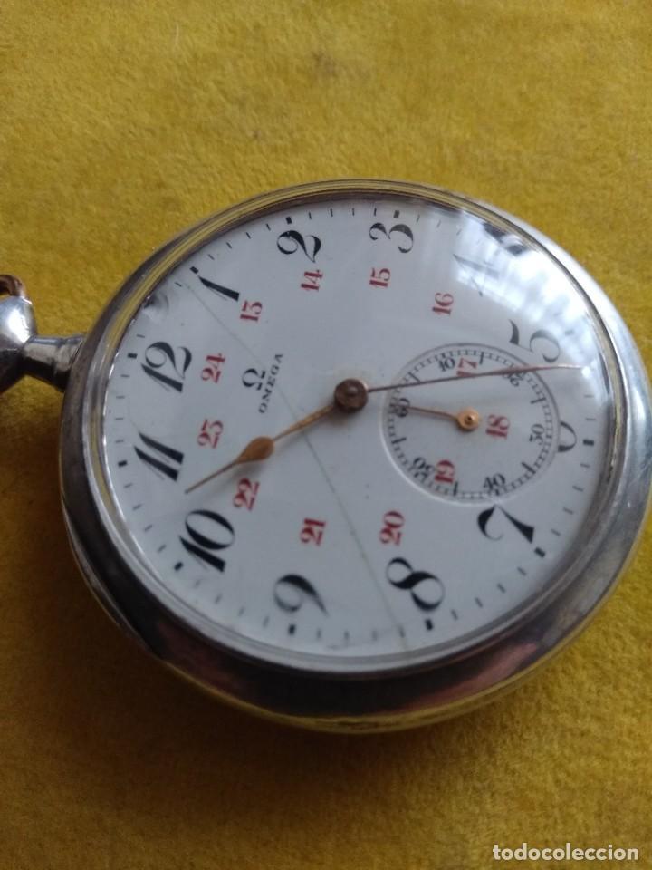 Relojes de bolsillo: Reloj de bolsillo OMEGA de plata, Grand Prix Paris 1900 - Foto 2 - 246057460