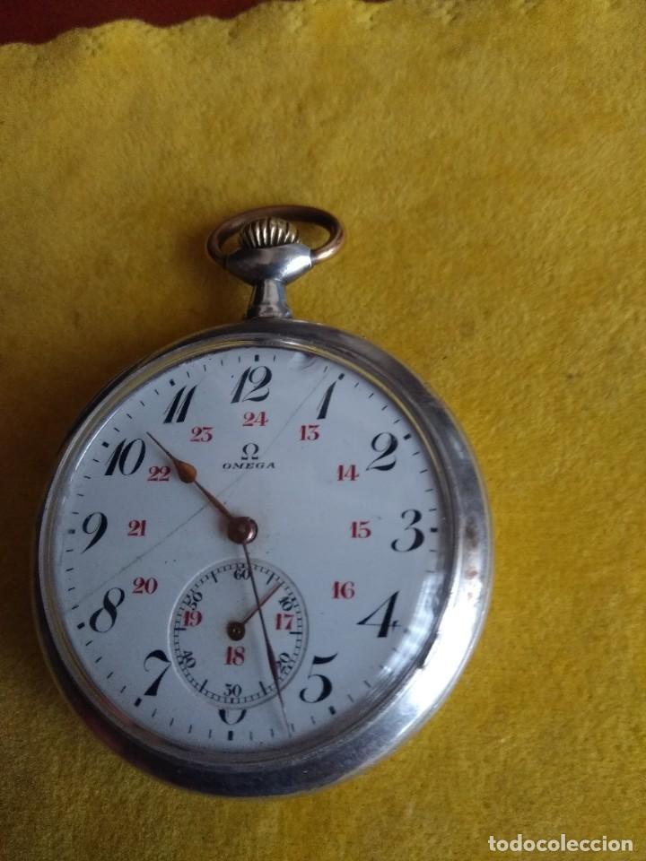 Relojes de bolsillo: Reloj de bolsillo OMEGA de plata, Grand Prix Paris 1900 - Foto 3 - 246057460