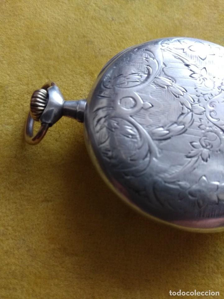 Relojes de bolsillo: Reloj de bolsillo OMEGA de plata, Grand Prix Paris 1900 - Foto 5 - 246057460
