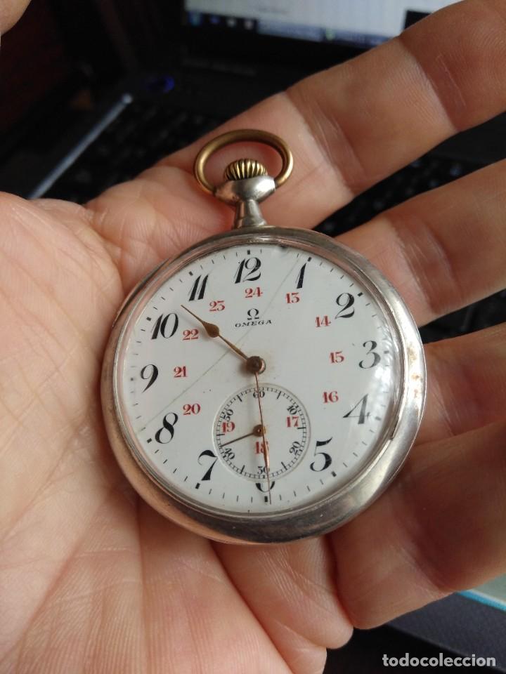 Relojes de bolsillo: Reloj de bolsillo OMEGA de plata, Grand Prix Paris 1900 - Foto 7 - 246057460