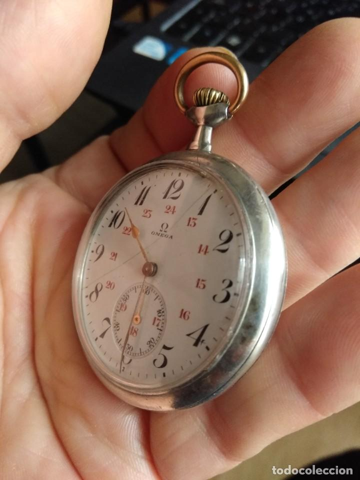 Relojes de bolsillo: Reloj de bolsillo OMEGA de plata, Grand Prix Paris 1900 - Foto 8 - 246057460